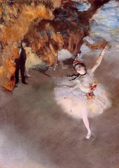 Edgar Degas, The Dancer on Stage, 1876-77, Pastel