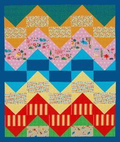 Zigzag Baby Quilt Flannels from the Folk Tale Friends collection from Red Rooster Fabrics inspired this kid-friendly throw. It's simple to p...