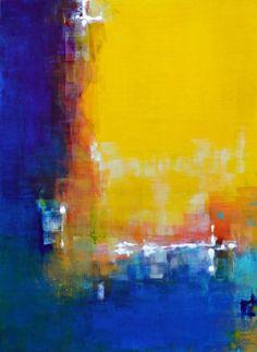 """ANA ELISA BENAVENT  """"I Opened My Eyes""""- acrylic on board (22"""" x 30"""")"""