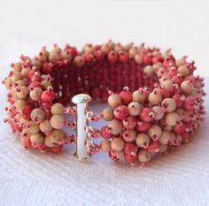 Pink 'N Ivory Stone Bracelet by BeadsForever,