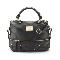 Check out Kardashian Kollection Feature Faux Leather Studded Handbag - ShopYourWay Tote Backpack, Kardashian Kollection, Clutch Wallet, Cross Body Handbags, Satchel, Crossbody Bags, Purses And Bags, Fashion Accessories, Leather
