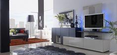 Un salón diferente, donde puedes guardar cosas y ver elegantemente la Tele!! Una composición que sube el número de ventas.. ¿Os gusta?