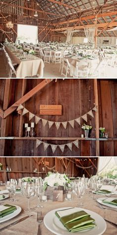 Beautiful Rustic Wedding Setting