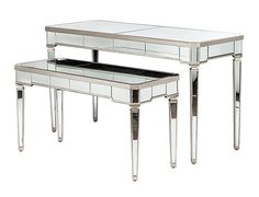 bentley mirrored nesting display tables on rent for special events and parties in NYC.