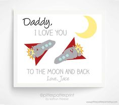 I Love You To The Moon and Back Baby par PitterPatterPrint sur Etsy