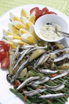 White anchovy salad