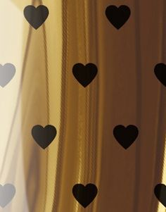 Hearts - Black and Gold