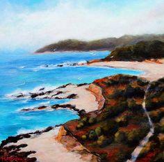 """Beach Trail"" Brookings Oregon      Acrylic on Canvas"