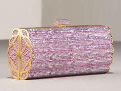 Pink Swarovski Crystal Clutch