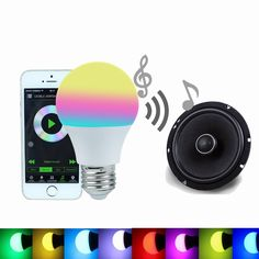 12.84$  Buy now - http://aligcs.shopchina.info/1/go.php?t=32642268590 - Bluetooth Smart LED Light Bulb 4.5W RGBW 4.0 Smartphone Controlled E27 Dimmable Led Lamp Sleeping Mode Smart Home Illumination  #SHOPPING