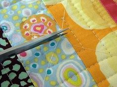 machine quilting tutorial and aligning your quilt sandwitch