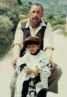 Philippe Noiret (Alfredo!)and Salvatore Cascio(Totò ) in Cinema Paradiso . Beautiful film..