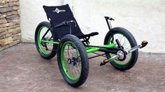 BAM!! This custom TerraTrike Rambler is painted with our favorite bright green (body and rims) and sports our Fat tires to make this one super Phat ride  Check out what else Utah Trikes can customize on our website.