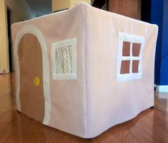 Felt card table playhouse cottage Waldorf by HermionesDrawers, $95.00