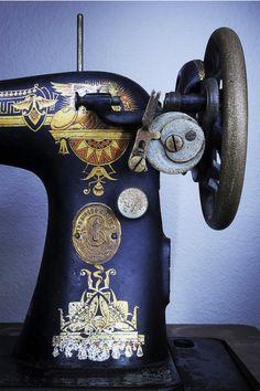 vintage sewing machine...