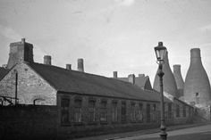 Unseen images of Fenton: Bert Bentley Collection. View along St. Matthews Street of Rubian Art Pottery. Ministry of supply 1939-46. Then Grimwades Pottery.
