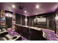 Enjoy your favorite films in this state-of-the-art home #theater.