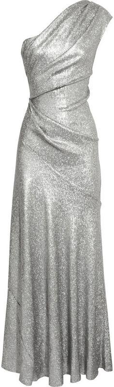 Silver Sequin Evening Dress by Donna Karan. Buy for $1,200 from The Outnet