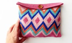 Book extra 17 Spring / Summer | 462: Special dates Cosmetic Bag | Light pink / Raspberry red / turquoise / Pastelorange / Night blue