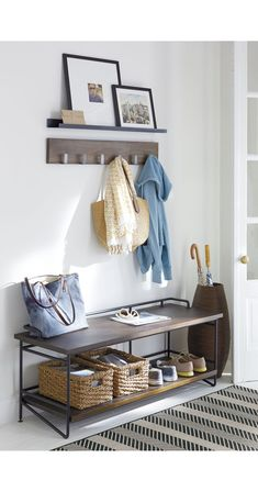 Andes Bench for Entryway | Crate and Barrel