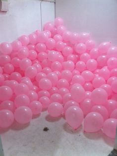 pink balloons. Welcome home surprise when i get home from Mexico? (wink wink)
