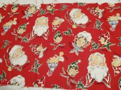 Fabric Christmas Santa Elves 100% cotton Quilting,crafting,sewing,