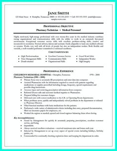 007 Pharmacy Technician Resume Examples Medical Sample