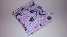 Porta absorvente tecido lilás com japonesas