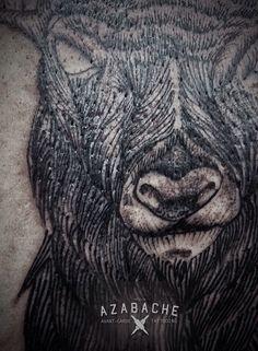 Avant-Garde Deer Tattoo #tattoo #dotwork #linework