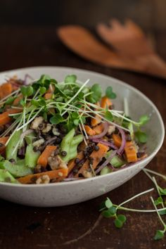 Warm Sweet Potato Salad with Beluga Lentils & Cider Vinaigrette