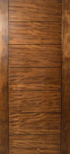 "Sulcus - Multi Horizontal Plank Wood Door w/ Vertical Stiles (1-3/4"")"