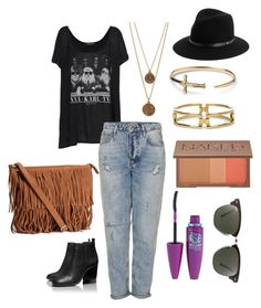 fall out fit 2 by annagoetzke on Polyvore featuring polyvore fashion style Fame on You Topshop Tory Burch H&M Bee Charming TOMS Sole Society rag & bone Ray-Ban Urban Decay Maybelline women's clothing women's fashion women female woman misses juniors