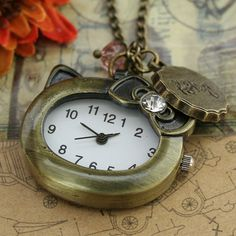 Hello Kitty pocket watch necklace