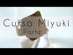 Curso Abalorios - Tecnicas con Miyuki ( Reducir filas y Cierre cremallera ) - 2º parte - YouTube