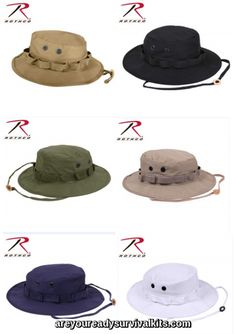 2225b33df94 Rothco s Classic Military Style Boonie Hats are functional   fashionable  and made to government specifications.
