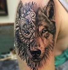 Image result for mandala wolf tattoo