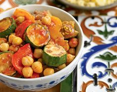 An Ethiopian-inspired Chickpea Stew with Eggplants, Tomatoes, and Peppers