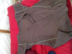 Viking wrap tunic made for me by Æsa Uthersdottir from the Kingdom of the West for my hobby, the SCA.
