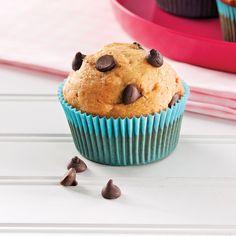 Muffins aux bananes et chocolat - Recettes - Cuisine et nutrition - Pratico Pratique Muffins Au Quinoa, Brownie Cookies, Muffin Recipes, No Bake Desserts, Scones, Biscuits, Brownies, Cupcakes, Lunch