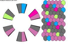 Strings: 12 Colors: 5 K9576 - friendship-bracelets.net