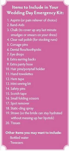 Wedding Emergency Kit ;)