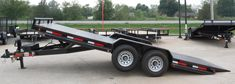 Tilt Bed Trailers - We can special order any size trailer to fit your needs! Trailers, Car Hauler Trailer, Tilt Trailer, Trailer Plans, Lifted Cars, Toyota 4runner, Land Rover Defender, Maine House, Amazing Cars