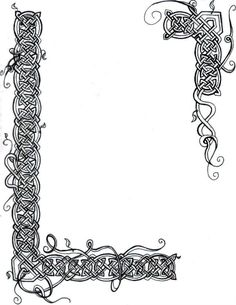 Illuminated Manuscript Borders Vines Celtic knot vines border by