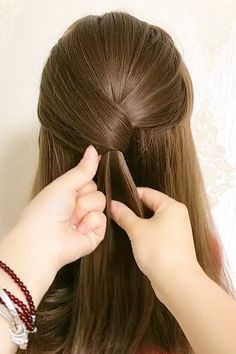 Hairdo For Long Hair, Easy Hairstyles For Long Hair, Up Hairstyles, Beautiful Hairstyles, Interview Hairstyles, Long Hair Video, Front Hair Styles, Medium Hair Styles, Hair Tutorials For Medium Hair