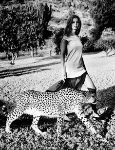 'Wild Things': Aurelie Claudel by Wayne Maser for US Harper's Bazaar, May 1999