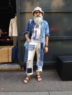 Gerold Brenner my new denim shirt made 1 of 3 vintage shirts and some vintage fabrics with boro and sashiko