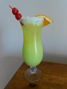 The Pub and Grub Forum: Dew Drop   Say hello to a Naomi Blackburn original, Dew Drop. Combining Malibu Rum, Midori and Mountain Dew never tasted so tropically refreshing!