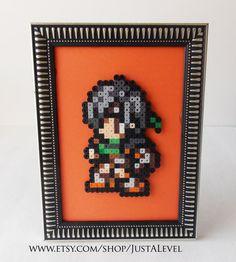 Yuffie Final Fantasy 7 Framed Pixel Art by JustALevel on Etsy