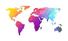 Colorful World Map Design by sagetypo World Map Design, Diagram, Colorful, Watercolor, Art, Pen And Wash, Art Background, Watercolor Painting, Watercolour