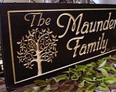 Personalized Carved Wooden Last Name Family Sign Great Christmas Gift Idea  Anniversary Wedding Gift  Wood Wall Art Wood Presents